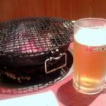 ビールと七輪