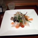 石カレイ 焼霜サラダ