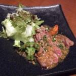 牛ヒレ炙りと彩野菜