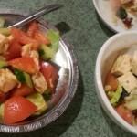 中華サラダとピータン