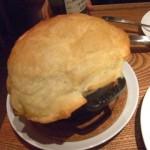 クラムチャウダーのパイ包み焼き