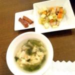 小鉢、漬物、スープ
