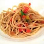 アンチョビと色野菜のぺペロンチーノ