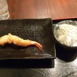 海老の天ぷらとシラス大根