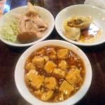 マーボー豆腐・サラダ・お新香