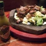 トロ豚軟骨の炭焼きガーリック醤油