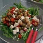 モッツァレラチーズと豆のイタリアンサラダ