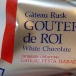 ホワイトチョコレートのラスク