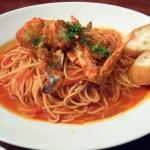 渡り蟹のトマトソーススパゲッティ