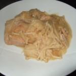 鮭とエノキの味噌マヨネーズ