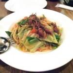 ホタルイカと緑野菜のオイルソース リングイネ