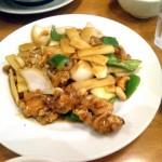 鶏肉ネギカシューナッツ炒め