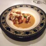 帆立貝のスフレと ズワイガニのスープ