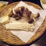 きのこ三種のバター焼き