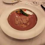 真鯛のヴァプール 赤ワインソース