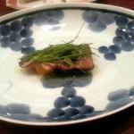 新秋刀魚の山椒炙り 九条ねぎのノワゼット