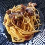 牡蠣のオイル煮パスタ